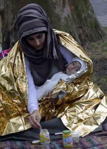 Flüchtlings Madonna
